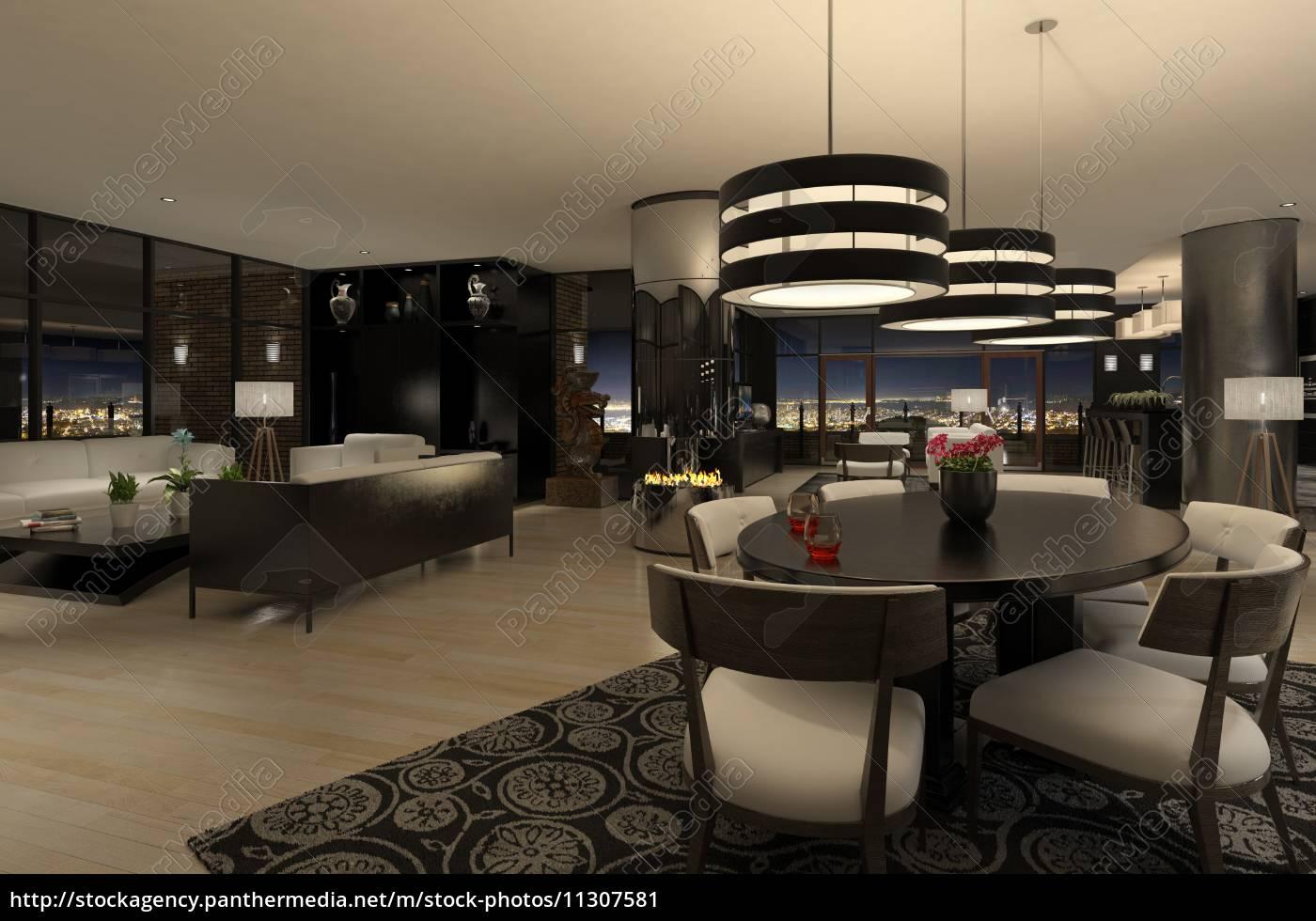 Moderne Wohnung moderne wohnung mit herrlichem blick auf die stadt bei