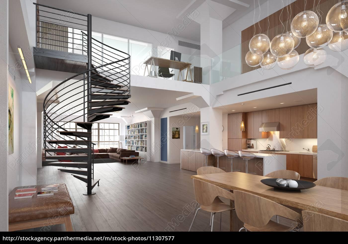 Moderne Wohnung moderne wohnung - lizenzfreies bild - #11307577 - bildagentur