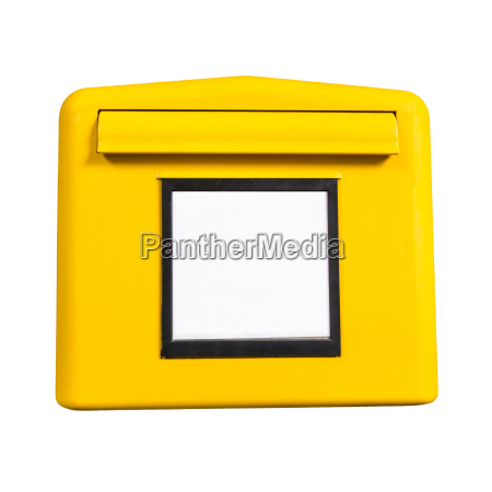 deutsch postbox gelb isoliert auf weiss