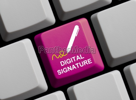 digital unterschrift unterschreiben signatur identifizierung online