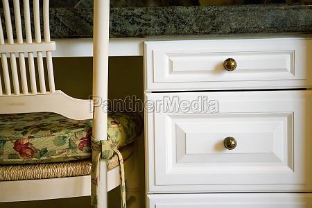 detail, der, küchen, schreibtisch, und, stuhl - 11324745