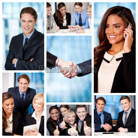 group of business people collage