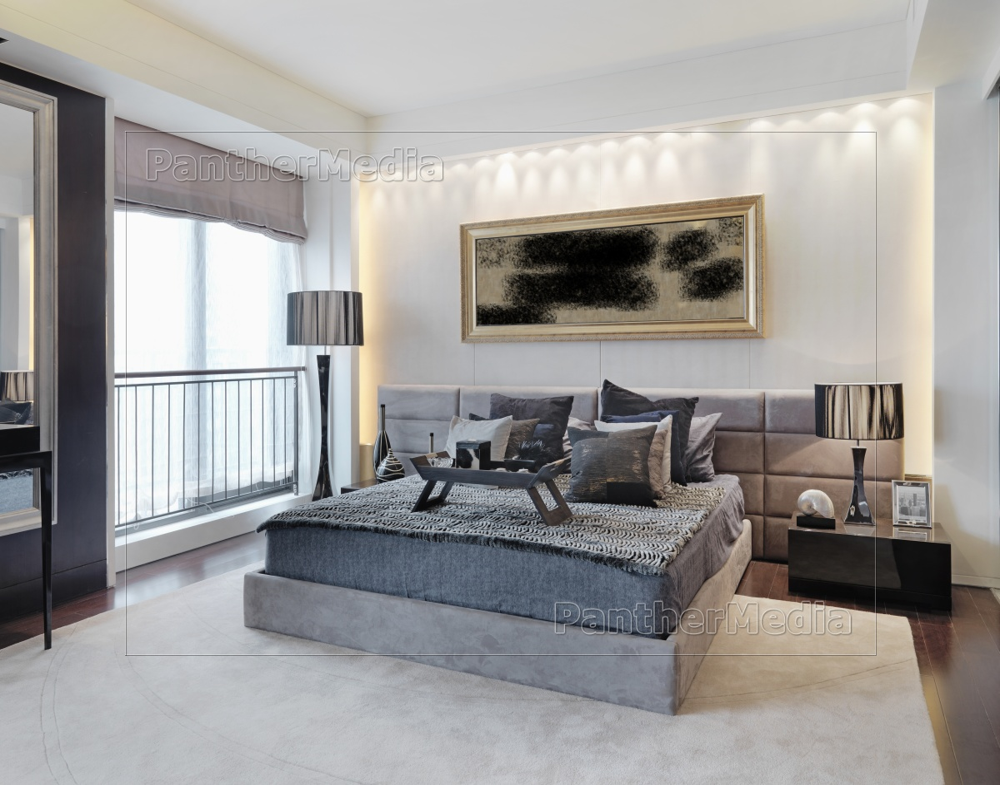 best modernes schlafzimmer grau pictures. Black Bedroom Furniture Sets. Home Design Ideas