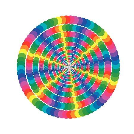 sun colored circles