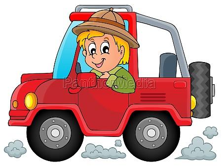 auto mit reisenden thema 1
