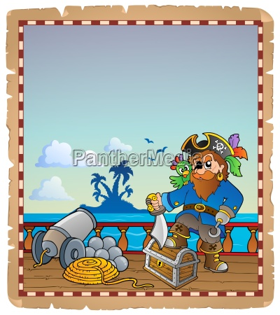 parchment with pirate ship deck 1