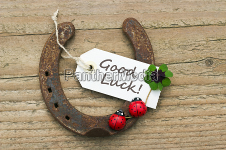 text lettering english card luck good