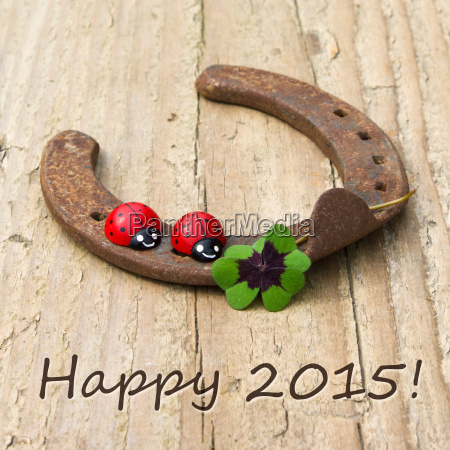 text lettering 2015 card happy new