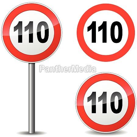vector hundred ten sign