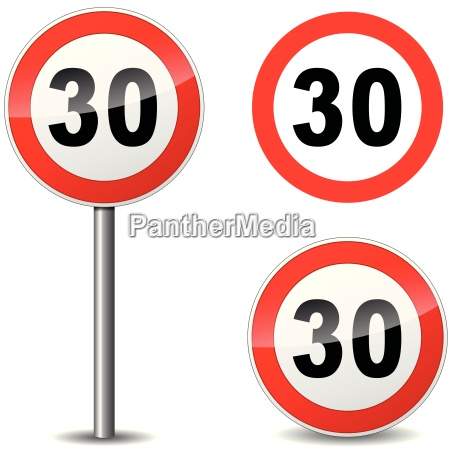 vector thirty sign