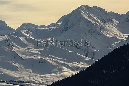 panoramablick suedseite auf das massiv von