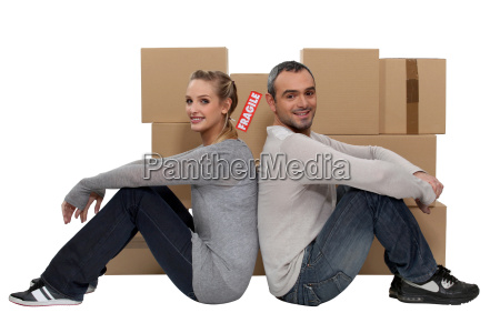 couple moving together