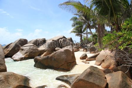 La Digue, Postkarte, Seychellen, Traum, tropisch, Wolken - 11375531