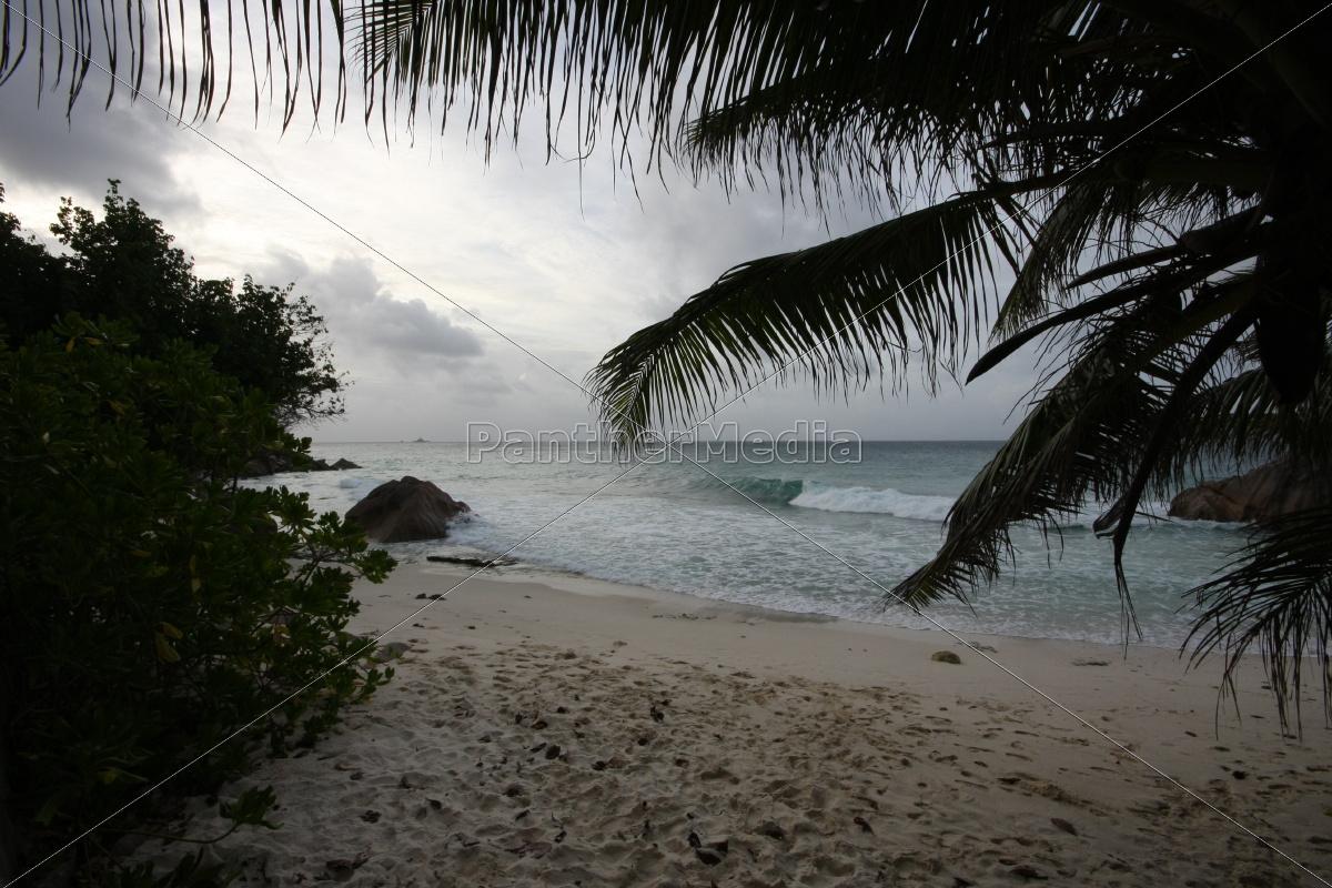 La Digue, Postkarte, Seychellen, Traum, tropisch, Wolken - 11375577