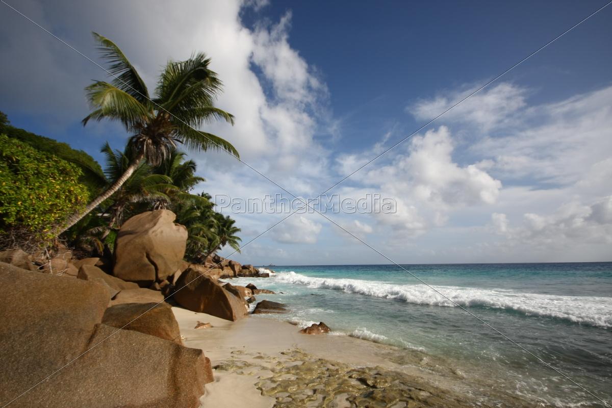 La Digue, Postkarte, Seychellen, Traum, tropisch, Wolken - 11375583