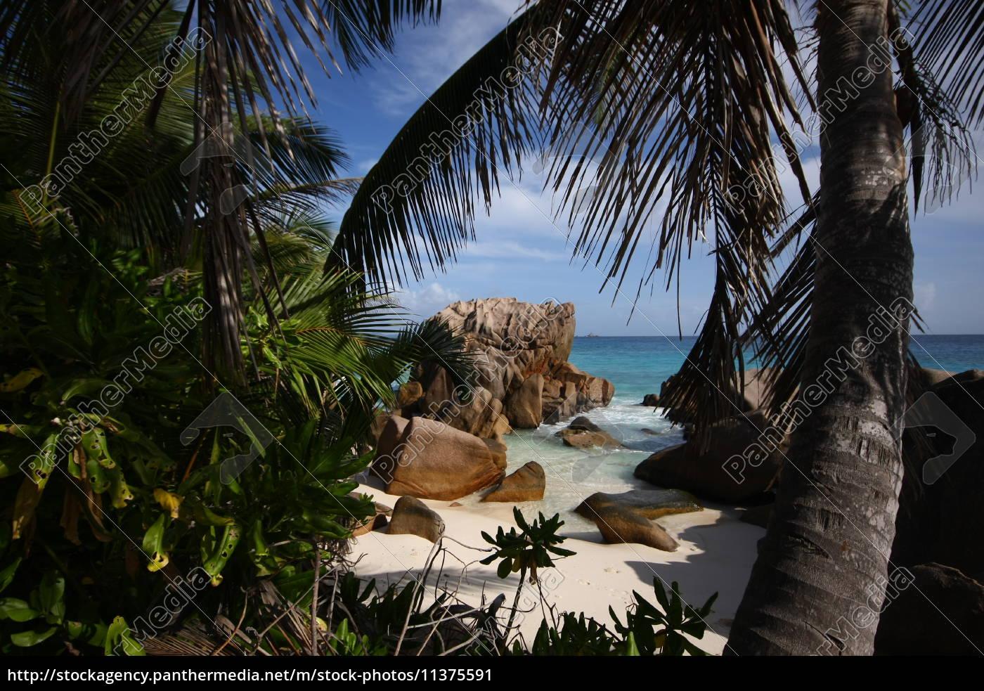 La Digue, Postkarte, Seychellen, Traum, tropisch, Wolken - 11375591