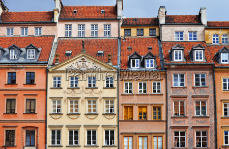 architecture of old town in warsaw