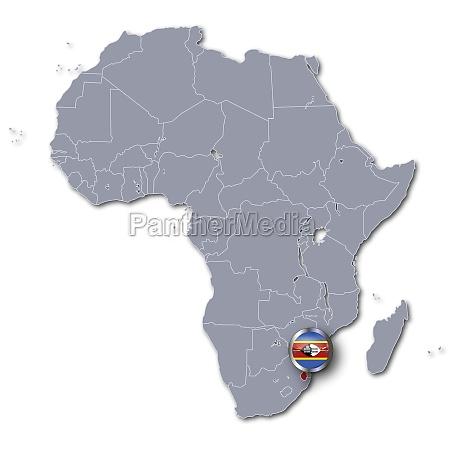 afrikakarte mit swasiland