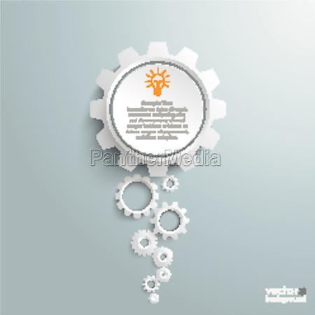 big idea white gears infographic