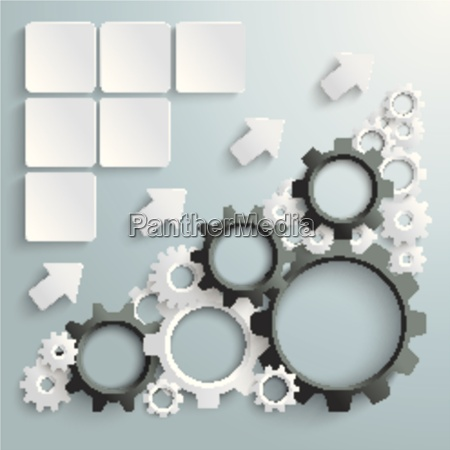 big machine white and black gears