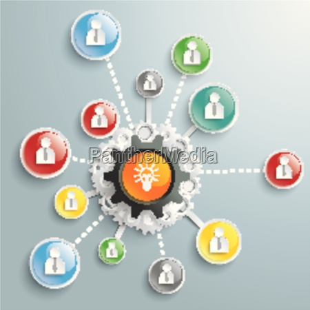 bulb brainstorming businessmen glossy buttons piad