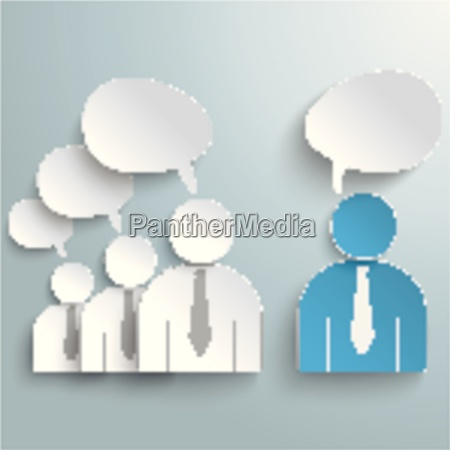 business humans communication speech bubbles piad