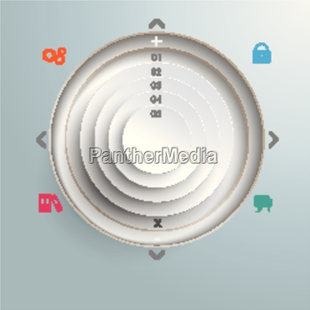 circle in cirlces holes infographic design