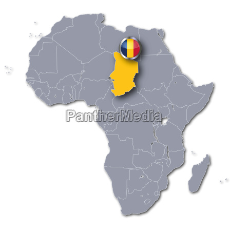 afrikakarte tschad