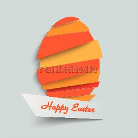 cutting easter egg