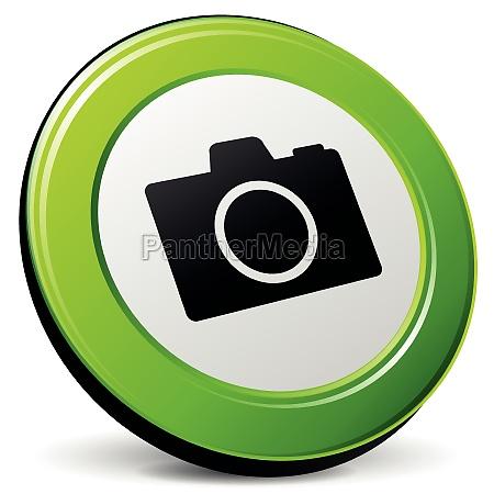 vector camera green icon