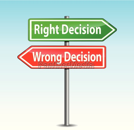 vector decisions arrows sign