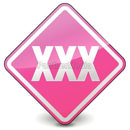 vector xxx square icon