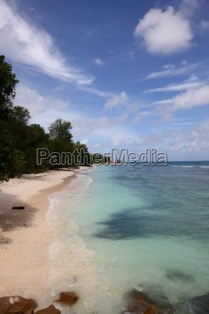 Seychellen, Himmel, Insel, Küste, La Digue, Lagune - 11428271