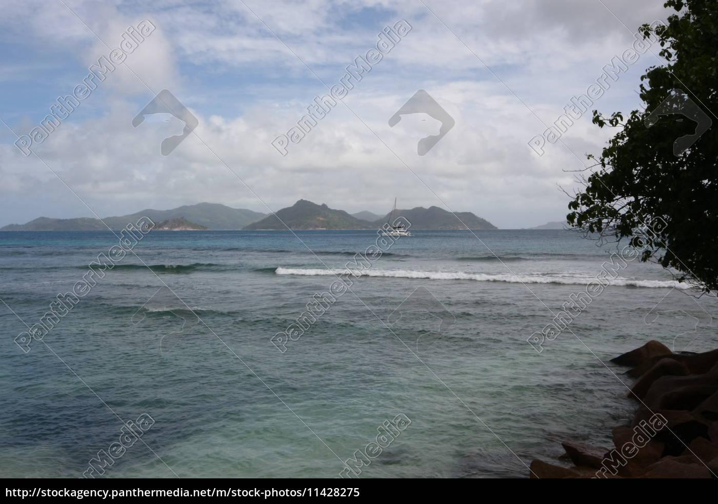 Seychellen, Himmel, Insel, Küste, La Digue, Lagune - 11428275