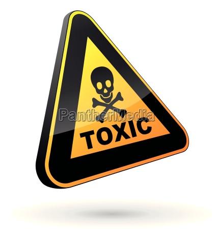 toxisches zeichen 3d