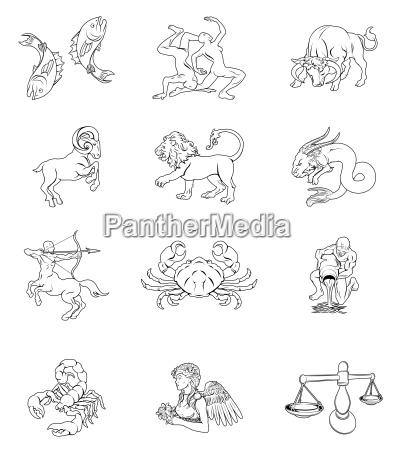 zodiac horoskop astrologie zeichen
