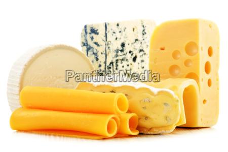 verschiedene, käsesorten, isoliert, auf, weißem, hintergrund - 11444299