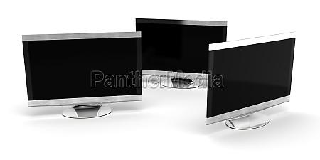 three hd tv