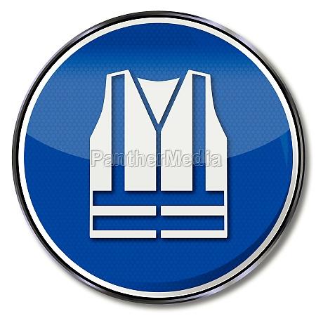 use gebotszeichen safety vest