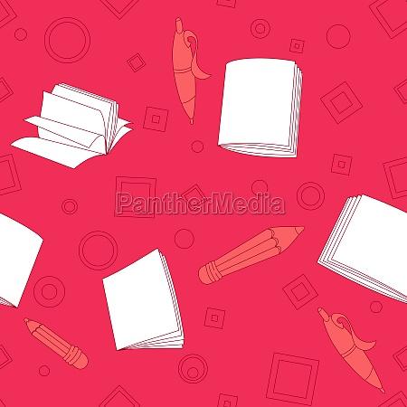 schule notiert nahtloses muster auf rosa