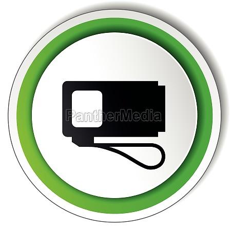vector round pump icon