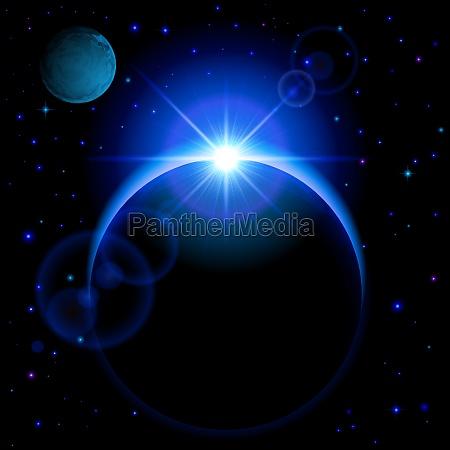 dark planet mit aufflackern