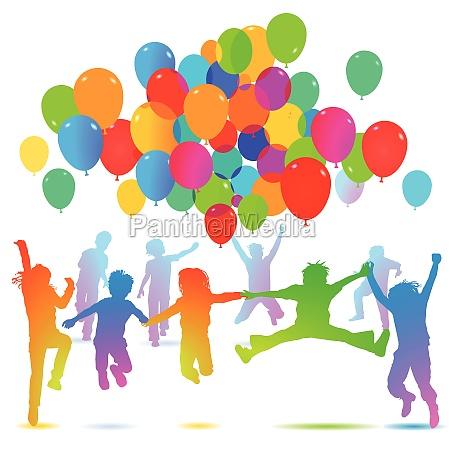 kindergeburtstag mit luftballon