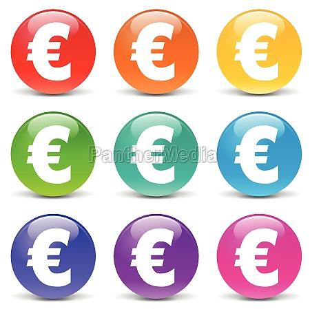 vector euro icons