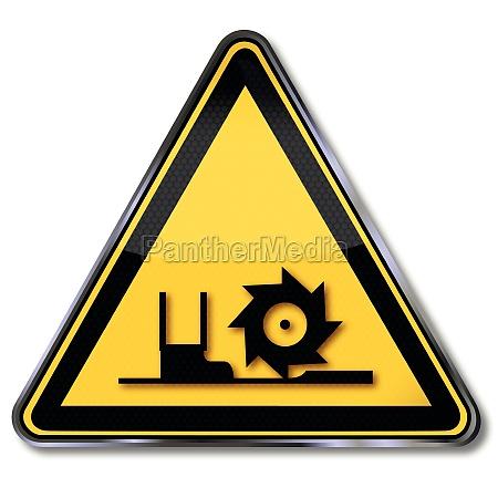 warnzeichen warnung vor fraeswelle