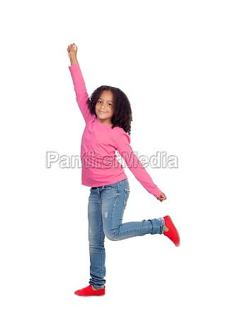 lustige maedchen springen
