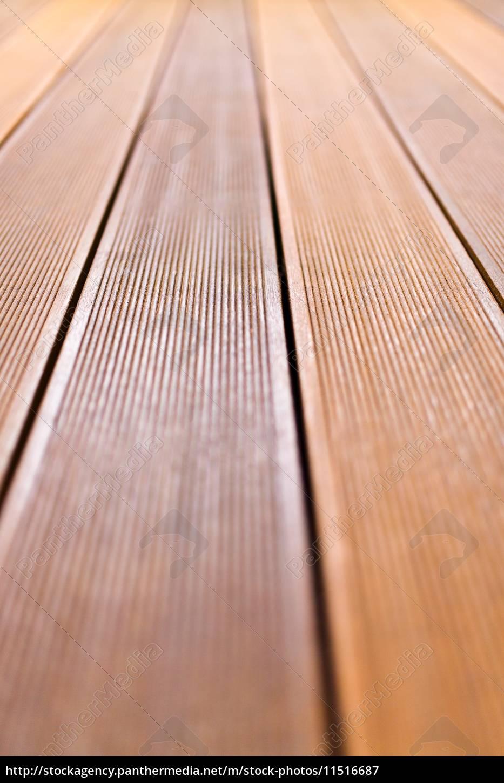 Holzerne Plattform Aus Bangkirai Holz Lizenzfreies Bild