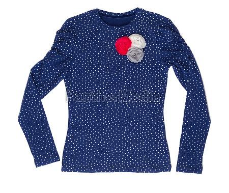 elegante damenjacke aus blauem polka dot