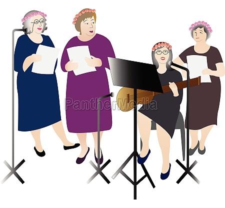 amateurorchester auffuehrung vektor