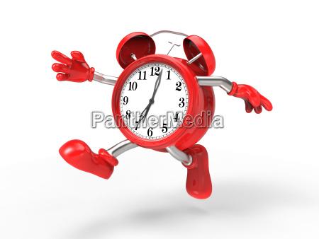 character alarm clock run